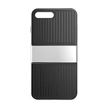 Baseus Travel Serisi iPhone 7 / 8 Çift Katmanlý Kýlýf Gümüþ