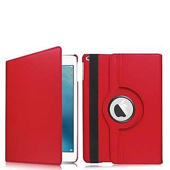 Zore iPad 10.2 Dönebilen Deri Standlý Kýlýf Kýrmýzý