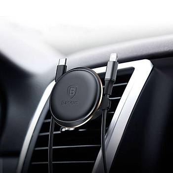 Baseus Magnetic Air Vent Mýknatýslý Kablo Askýlý Telefon Tutucu