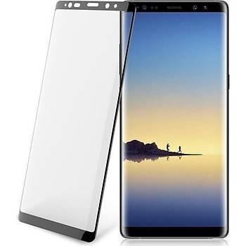 Piili 5D Tüm Yüzey Samsung Galaxy Note 8 Cam Ekran Koruyucu Siyah