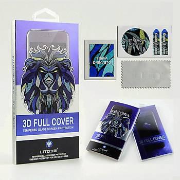 Lito 3D Full Cover iPhone 8 Plus Cam Ekran Koruyucu Arka / Beyaz