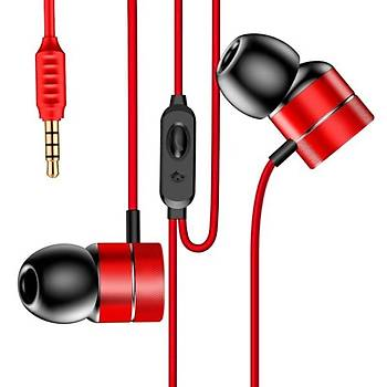 Baseus Encok Wire H04 Serisi Kulakiçi Mikrofonlu Kulaklýk Kýrmýzý