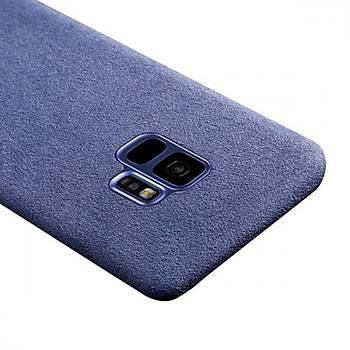 Baseus Original Alcantara Galaxy S9 Kadife Tasarým Kýlýf Mavi
