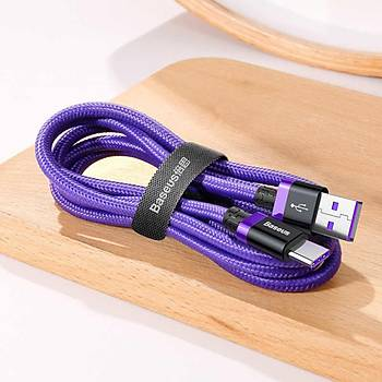 Baseus Purple Gold Red Huawei Hýzlý Þarj Kablosu USB ve Type-C 1 Metre Gold
