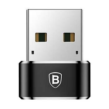 Baseus Erkek Usb - Diþi Type-C Çevirici Dönüþtürücü Adaptör Siyah
