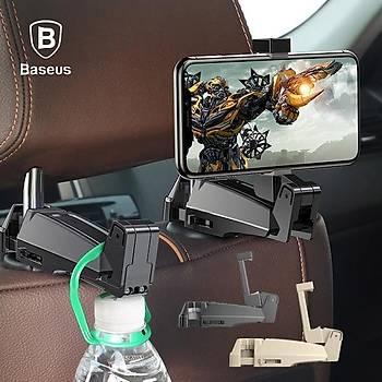Baseus Araç Ýçi Arka Koltuk Telefon Tutucu ve Aský Siyah