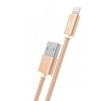 Hoco X2 Ýp Örgü Alüminyum iPhone Lightning Hýzlý Þarj Kablosu