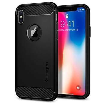 Spigen iPhone X / iPhone XS 5,8 Rugged Armor Kýlýf Matte Black