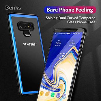 Bensk Magic Shiny Glass Serisi Galaxy Note 9 Kýlýf Purple