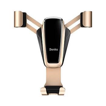 Benks H11 Gravity Serisi Araç Ýçi Havalandýrma Ýçin Telefon Tutucu Gold