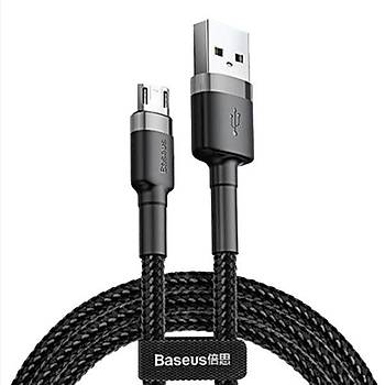 Baseus Cafule Serisi USB Kablo Micro USB 1.5A, 2M Siyah-Gri