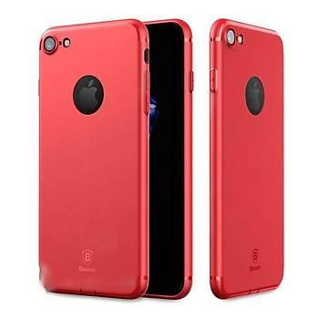 Baseus Simple Solid iPhone 7/8 Soket Korumalý Kýlýf Kýrmýzý
