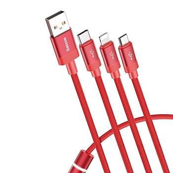 Baseus 3.5A Lightning, Micro Usb, Type-C 1,2M Data Þarj Kablosu
