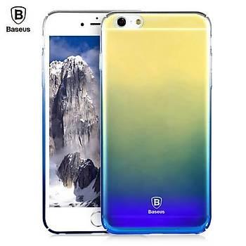 Baseus Glaze Serisi iPhone 6/6S Ultra Slim Transparan Kýlýf Mavi