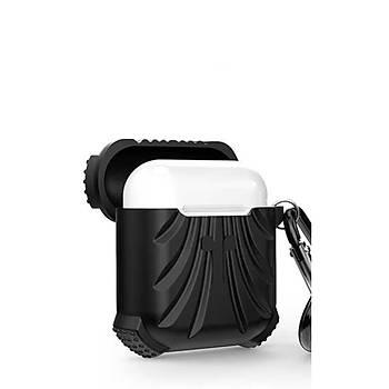 AntDesign Airbag Serisi Apple AirPods Silikon Kýlýf Siyah