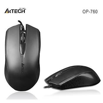 A4 Tech Op-760 Usb Siyah V-Track 1000 Dpý Kablolu Mouse