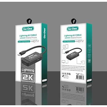 Go Des GD-8275 Apple iPhone Lightning Av Kablo HDMI Dönüþtürücü