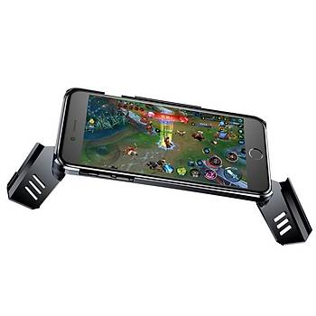 Baseus Gamer Serisi iPhone 7 / iPhone 8 Gamepad Stand Kýlýf Siyah