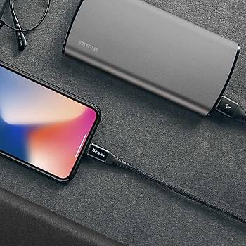 Benks D26 Apple Ýphone Þarj ve Data Kablosu 1.8M 3 A. Siyah