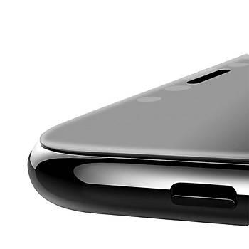 Piili 6D Eðimli Kenar Ön Panel iPhone X/XS 5,8 Cam Ekran Koruyucu