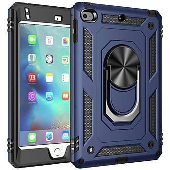 KinGcase Apple Ýpad Mini 4/5 Uyumlu Outdoor Defender Yüzüklü Standlý Kýlýf
