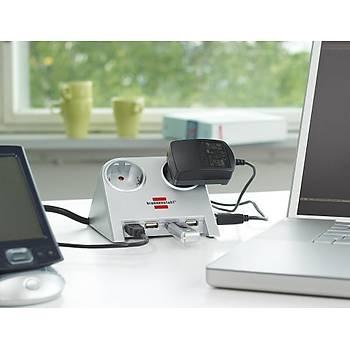 Brennenstuhl 4X USB 2.0 2.100 MAH 2 LÝ  Masa Üstü Priz Siyah