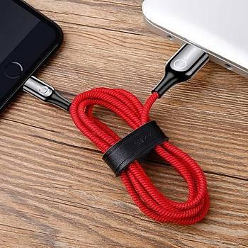 Baseus C-Shaped Serisi iPhone Lightning Data Þarj Kablosu Siyah
