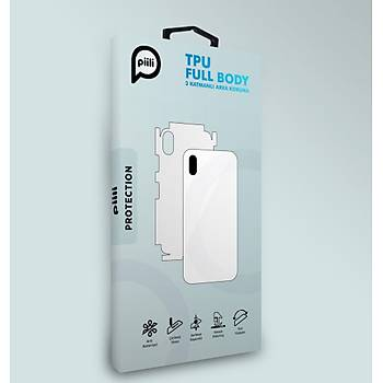 Piili Samsung A8 2018 Plus TPU Arka ve Yan Yüz Koruyucu Film