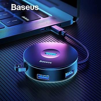 Baseus Round Box HUB Adapter ve Çoklayýcý Beyaz (USB3.0 to USB3.0