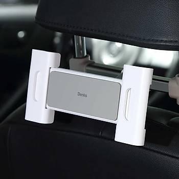 Benks H14 Backseat Araç Ýçi Arka Koltuk Tablet Tutucu Beyaz