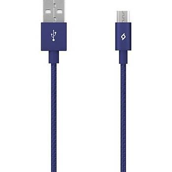 TTec AlumiCable Micro USB Þarj Kablosu - Lacivert 2DK11L