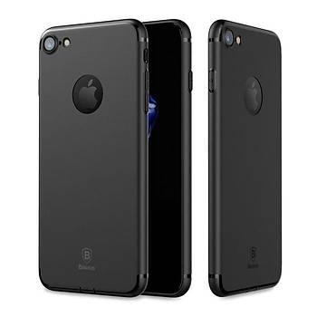 Baseus Simple Solid Serisi iPhone 7/8 Soket Korumalý Kýlýf Siyah