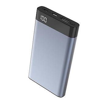 Xipin T13 Dijital Göstergeli 10000 Mah Powerbank Blue