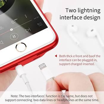 Baseus iPhone 7/8 Þarj ve Kulaklýk Giriþli Audio Case Kýlýf
