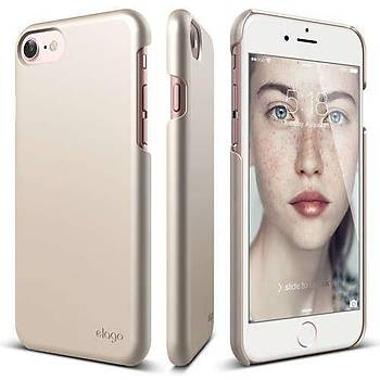 Elago iPhone 7 / iPhone 8 Slim Fit 2 Jean Indigo Kýlýf Titanium