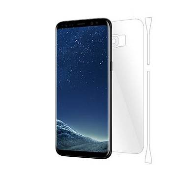 Piili Samsung Galaxy S8 Plus TPU Arka ve Yan Yüz Koruyucu Film