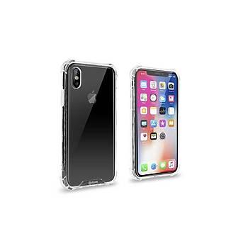 Ugly Armor Gel Serisi iPhone X-XS Darbe Koruyucu Kýlýf Þeffaf
