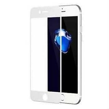 Piili 6D Eðimli Kenar Ön Panel iPhone 8 Cam Ekran Koruyucu Beyaz