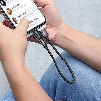 Baseus U-Shaped Portable Micro Usb Mini Data Þarj Kablosu Siyah