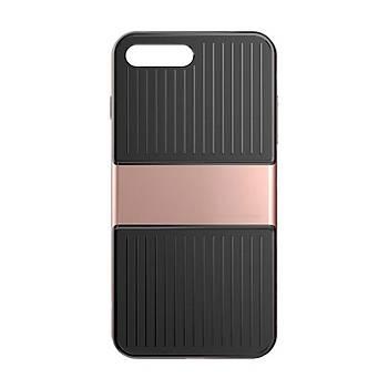 Baseus Travel iPhone 7 Plus/8 Plus Çift Katmanlý Kýlýf Rose Gold