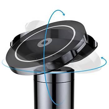 Baseus Big Ears Wireless Araç Þarjý ve Telefon Tutucu Siyah