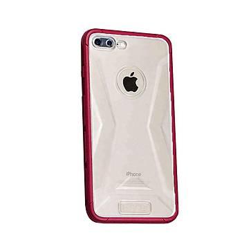 Lito Shockproof TPU Darbeye Dayanýklý iPhone 8 Plus Kýlýf Kýrmýzý