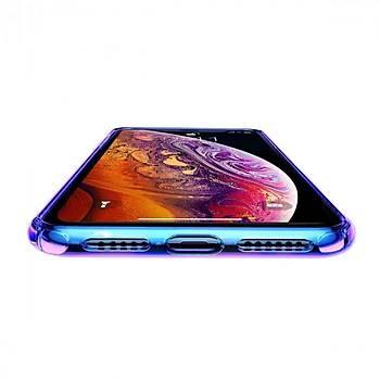 Baseus Colorful Airbag iPhone XR 6.1 Darbeye Dayanýklý Kýlýf Mavi