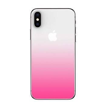 Baseus Coloring iPhone X / iPhone XS 5,8 Arka Cam Koruyucu Pembe