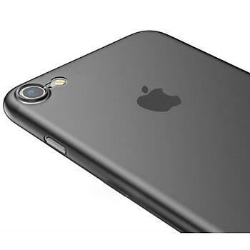 Baseus Wing Serisi iPhone 7 / 8 Ultra Ýnce Kýlýf Solid Siyah