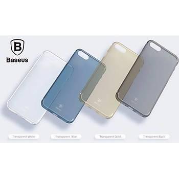 Baseus Slim Serisi iPhone 7 / iPhone 8 Transparan Kýlýf Siyah