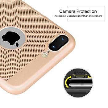 AntDesign iPhone 7 Plus / 8 Plus Cooling Hole File Kýlýf Altýn