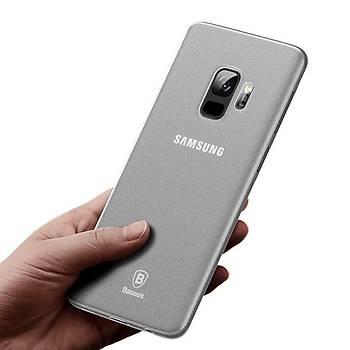 Baseus Wing Samsung Galaxy S9 Ultra Ýnce Kýlýf Transparan Beyaz
