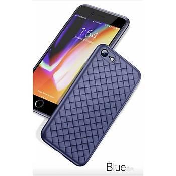 Baseus BV Weaving iPhone 7 Plus/8 Plus Hasýr Desenli Kýlýf Mavi