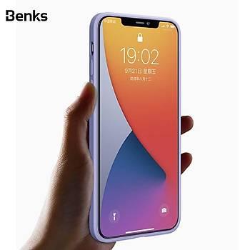 Benks Painting Serisi TPU Apple iPhone 12 Mini Silikon Kýlýf Lila